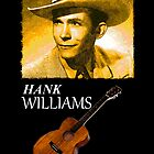 Hank Williams & Guitar by jerry2011