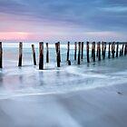 Sunset at St Clair Jetty, Dunedin, New Zealand by Vicki Moritz