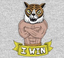 I win - says Tiger Man with wonderfully burly forearms Kids Clothes