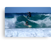 Close Encounters Of The Surfing Kind Canvas Print