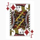Jack of Diamonds Playing Card by CrazyAsia