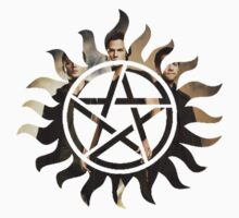 Supernatural Symbol with Sam, Dean and Castiel by reens55