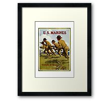 US Marines -- Soldiers Of The Sea Framed Print