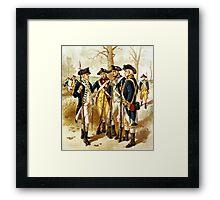 Infantry Of The Revolutionary War Framed Print