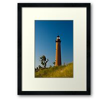 Little Sable Lighthouse on the Dune by Silver Lake Michigan Framed Print