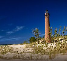 The Little Sable Point Lighthouse by Randall Nyhof