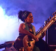 Sitar player, Jaipur literature ferstival by Love Badaboom