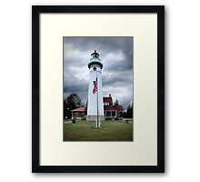 Seul Choix Point Lighthouse in Michigan's Upper Peninsula Framed Print