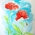 """couple of poppies"" :) by karina73020"