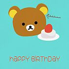 Rilakkuma Bear Card by Ebeelily