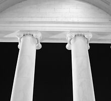 Ionic Columns of Thomas Jefferson I by SilverLilyMoon