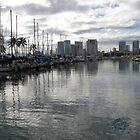 Evening Harbor~Honolulu by Patty Boyte