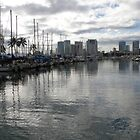 Evening Harbor~Honolulu by Patty (Boyte) Van Hoff
