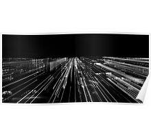 Skyline, Black & white Poster