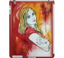 Stencil/Mixed Media Girl iPad Case/Skin