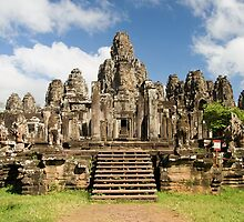 Bayon Temple in Cambodia by Artur Bogacki