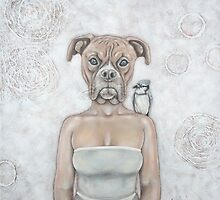 La femme chien - The dog woman by Caroline Houde