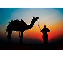 Camel silhouette Photographic Print