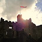 UK Flag over Castle by annbelleproject