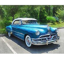 Blue 1951 Pontiac Photographic Print