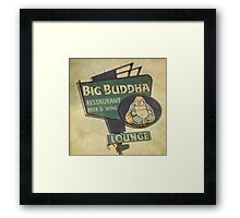 Big Buddha Lounge Framed Print