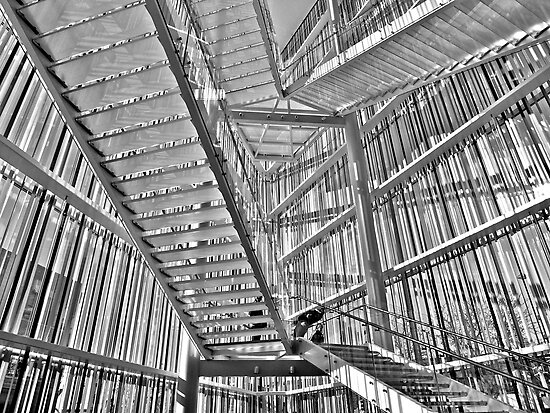 Stairway, Madison Museum of Contemporary Art (1) by Scott Johnson