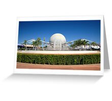 Spaceship Earth Landscape Greeting Card
