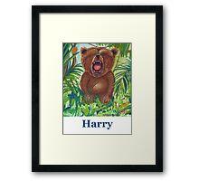 Harry roaring bear Framed Print
