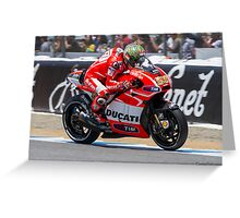 Nicky Hayden at laguna seca 2013 Greeting Card