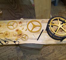 Building a Clock by MaryinMaine