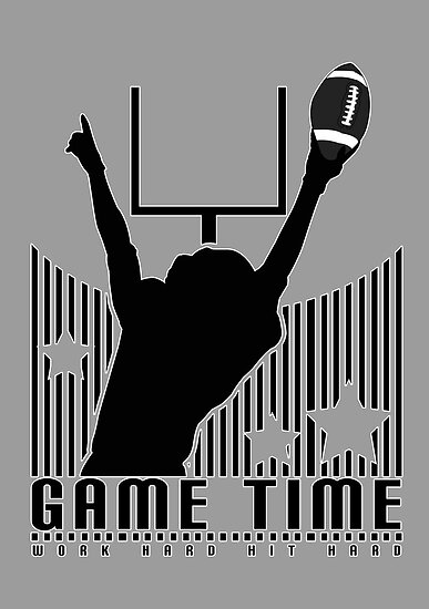 Game Time - Football (Grey) by Adamzworld
