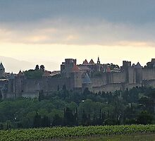 """ Dawn breaks over Carcassonne"" by mrcoradour"