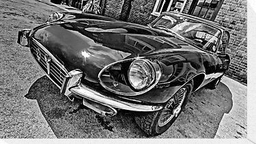 1971 E-Type Jaguar (HDR) by Stephen Knowles