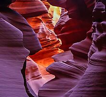 Light in the Slot, Lower Antelope Canyon, Page, Arizona USA by TonyCrehan
