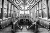 Yorkdale Subway Station - B&W by John Velocci