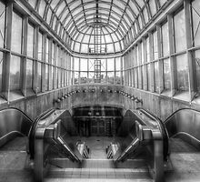 Yorkdale Subway Station - B&W by John Velocci
