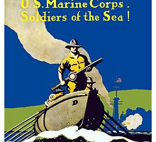 Join The US Marines Corps. Soldiers Of The Sea! by warishellstore