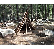 Teepee Visitors of Willows Springs Made Photographic Print