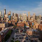 Chicago skyline by Geoffrey Fighiera