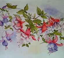Pretty Maids all in a row-Watercolour-Sold by Jenny1611