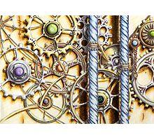 Cogs #4 - coloured pencil Photographic Print