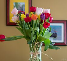 Birthday Tulips by Mikell Herrick