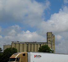 Truck And Mill by WildestArt