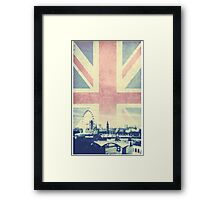 Sherlock London Union Jack Framed Print