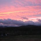 Sunset Over Mount Mansfield by Rystall