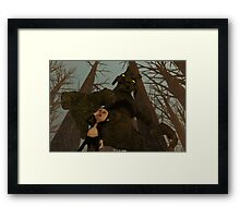 Beware of The Tree Witch! Framed Print