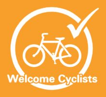 Welcome Cyclists (dark) by KraPOW