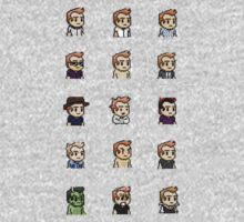 8-Bit Jeff Winger by joshgranovsky