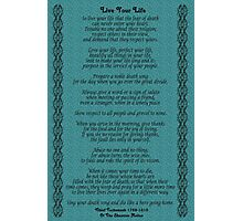 """Live Your Life""  by Chief Tecumseh Turquoise  Photographic Print"