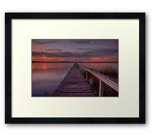 Long Jetty Sunset. Framed Print